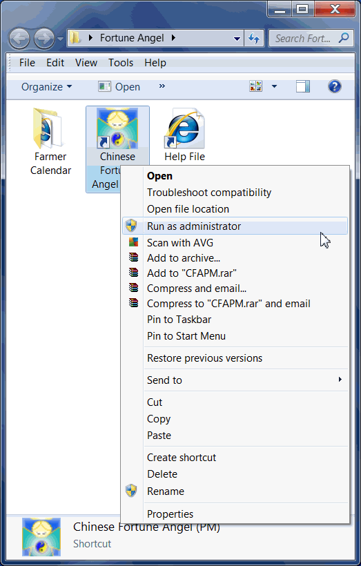 Vista how to run as administrator