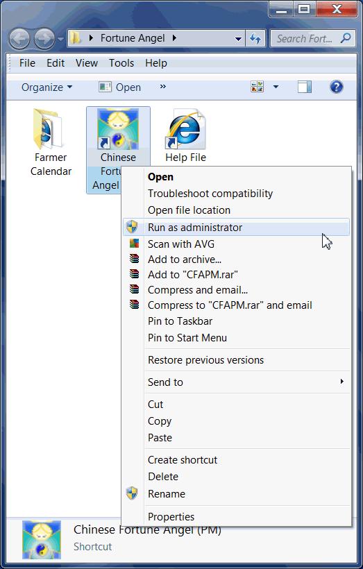 Vista how to run as administrator
